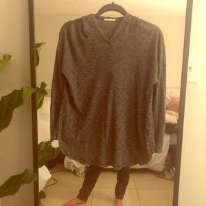 LUSH Grey Hooded Long Sleeve